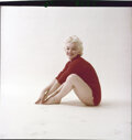 """Movie/TV Memorabilia, Collection of (9) color camera transparencies of Marilyn Monroe from """"Red Sweater"""" sitting by Milton Greene. ..."""