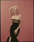 """Movie/TV Memorabilia, Collection of (8) color camera transparencies of Marilyn Monroe from """"Pekinese Dogs"""" sitting by Milton Greene. ..."""