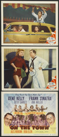"Movie Posters:Musical, On the Town (MGM, 1949). Title Lobby Card and Lobby Cards (2) (11"" X 14""). Musical.... (Total: 3 Items)"