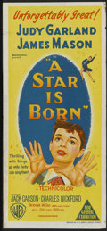 """Movie Posters:Musical, A Star Is Born (Warner Brothers, 1954). Australian Daybill (13.5"""" X 30""""). Musical...."""