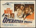 "Movie Posters:War, Operation Pacific (Warner Brothers, 1951). Title Lobby Card (11"" X14""). War...."
