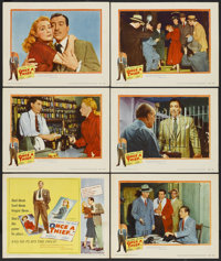 "Once a Thief (United Artists, 1950). Title Lobby Card and Lobby Cards (5) (11"" X 14""). Crime.... (Total: 6 Ite..."