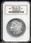 Morgan Dollars: , 1878 7TF $1 Reverse of 1878 MS64 Deep Mirror Prooflike NGC....
