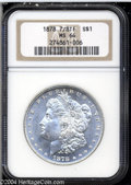 1878 7/8TF $1 Strong MS64 NGC. Essentially untoned and well conserved, with frosty features and four underlying tail fea...