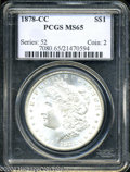 Morgan Dollars: , 1878-CC $1 MS65 PCGS. An exquisitely struck and ...