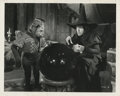 """Movie/TV Memorabilia, The Wizard of Oz vintage production photograph of Margaret Hamilton as """"The Wicked Witch"""" with winged monkey. ..."""