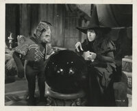 """The Wizard of Oz vintage production photograph of Margaret Hamilton as """"The Wicked Witch"""" with winged monkey..."""