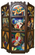 Movie/TV Memorabilia, Carrie Fisher childhood custom personalized stained glass standing screen....