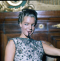 Movie/TV Memorabilia, Collection of (911) black-and-white and color camera negatives and transparencies of Romy Schneider by Milton Greene. ...