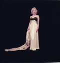 """Movie/TV Memorabilia, Color camera transparency of Marilyn Monroe from """"Nightgown and Mink Stole"""" sitting by Milton Greene. ..."""
