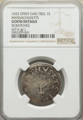 1652 SHILNG Oak Tree Shilling, Spiny Tree, -- Scratches -- NGC Details. Good. (67.6gr.)...(PCGS# 45364)