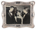 Movie/TV Memorabilia, Carrie Fisher personal framed vintage photograph with Mark Hamill and Harrison Ford....