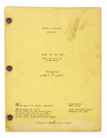 Movie/TV Memorabilia, Duel in the Sun final shooting script with color revisions. ...