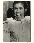 Movie/TV Memorabilia, Carrie Fisher (14) vintage unpublished behind-the-scenes photographs from Star Wars: Episode V - The Empire Strikes Back....