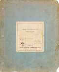 Movie/TV Memorabilia, Final shooting script for 20,000 Leagues Under the Sea with notarized letter. ...