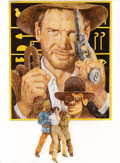Movie/TV Memorabilia, Raiders of the Lost Ark poster concept art by Tom Jung. ...