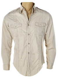 """Harrison Ford screen used """"Indiana Jones"""" signature shirt from Raiders of the Lost Ark"""