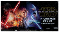 Movie/TV Memorabilia, Star Wars: Episode VII - The Force Awakens advance triple subway poster signed by Carrie Fisher....