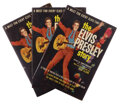 Movie/TV Memorabilia, Collection of (3) paperback copies of The Elvis Presley Story by James Gregory signed by Elvis Presley. ...