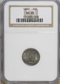 Barber Dimes: , 1897 10C MS65 NGC. NGC Census: (49/22). PCGS Population (38/26).Mintage: 10,869,264. Numismedia Wsl. Price for NGC/PCGS co...