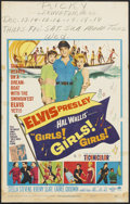 "Movie Posters:Elvis Presley, Girls! Girls! Girls! (Paramount, 1962). Window Card (14"" X 22""). Elvis Presley...."