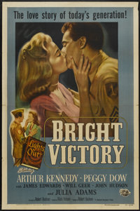 "Bright Victory (Universal International, 1951). One Sheet (27"" X 41""). Drama"
