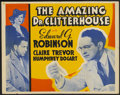 "Movie Posters:Crime, The Amazing Dr. Clitterhouse (Warner Brothers, 1938). Other CompanyHalf Sheet (22"" X 28""). Crime...."