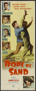 "Movie Posters:Adventure, Rope of Sand (Paramount, 1949). Insert (14"" X 36""). Adventure...."