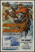 """Movie Posters:Serial, Gunfighters of the Northwest (Columbia, 1954). One Sheet (27"""" X41"""") Chapter 11 -- """"The Fugitive Escapes."""" Serial...."""