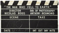 Movie/TV Memorabilia, The Man Who Fell to Earth oversized clapperboard for aerial shots. ...