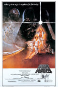 Movie/TV Memorabilia, Star Wars: Episode IV - A New Hope commercial reprint poster signed by Carrie Fisher....