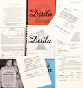 Movie/TV Memorabilia, Collection of vintage Desilu related signed docs and ad materials. ...