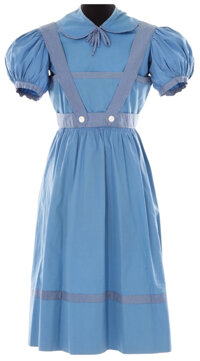 """Judy Garland early """"Dorothy"""" dress from The Wizard of Oz"""