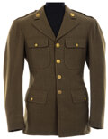 """Movie/TV Memorabilia, Bob Hope """"Don Bolton"""" Army Jacket from Caught in the Draft. ..."""