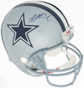 Movie/TV Memorabilia:Autographs and Signed Items, Troy Aikman Signed Dallas Cowboys Full Size Replica Helmet....