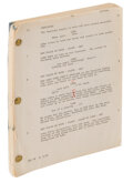 """Movie/TV Memorabilia, Carrie Fisher """"Princess Leia"""" personal hand-annotated shooting script from Star Wars: Episode V - The Empire Strikes Back...."""