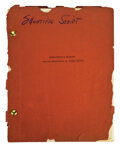 Movie/TV Memorabilia, Macbeth Orson Welles' personal typed, carbon copy and hand annotated Rough Draft manuscript and a revised shooting script. ...