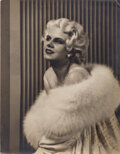 Movie/TV Memorabilia, Jean Harlow signed oversize photograph from Hell's Angels. ...