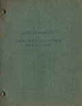 Movie/TV Memorabilia, Song of the South final shooting script under working title Uncle Remus. ...