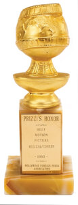 Movie/TV Memorabilia, 1985 Golden Globe to producer John Foreman for Best Picture for Prizzi's Honor. ...