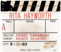 Movie/TV Memorabilia, Production-used clapperboard and promo piece from The Shawshank Redemption. ...