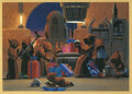 """Movie/TV Memorabilia, George Lucas signed """"Jawas"""" Christmas card to Carrie Fisher...."""