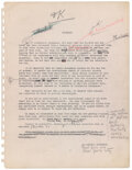 """Miscellaneous, Bill Wilson's working draft manuscript of Alcoholics Anonymous """"Big Book""""...."""