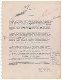"Bill Wilson's working draft manuscript of Alcoholics Anonymous ""Big Book"""