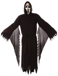 """""""Ghostface"""" costume and rubber stunt knife from Scream 4"""