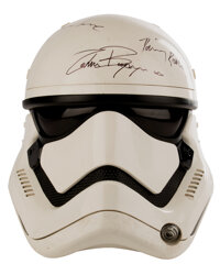 Stormtrooper screen used helmet signed by the cast from Star Wars: Episode VII - The Force Awakens with Lucasfilm LOA