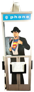 """Movie/TV Memorabilia, Christopher Reeve """"Clark Kent"""" promotional phone booth standee from Superman...."""
