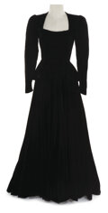 """Movie/TV Memorabilia, Jean Harlow """"Suzy Trent"""" black velvet dress designed by Dolly Tree made for Suzy and worn by Claudette Colbert in Boom Town...."""