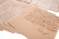 """George III, King of Great Britain. Highly important series of nearly 140 autograph letters, mostly signed (""""G. R.&q..."""