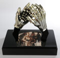 """Movie/TV Memorabilia, Pair of Anthony Daniels """"C-3PO"""" hands used in Star Wars: Episode VI – Return of the Jedi donated in display case by George Luc..."""